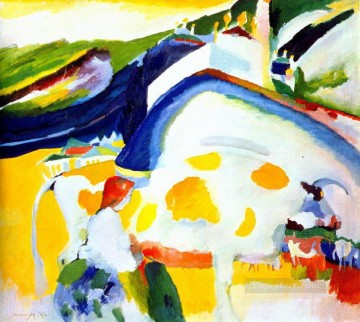 The cow Abstract Oil Paintings